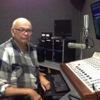 Jim Zahn, President of Western Educational Alliance in the KJOI-FM Control room.